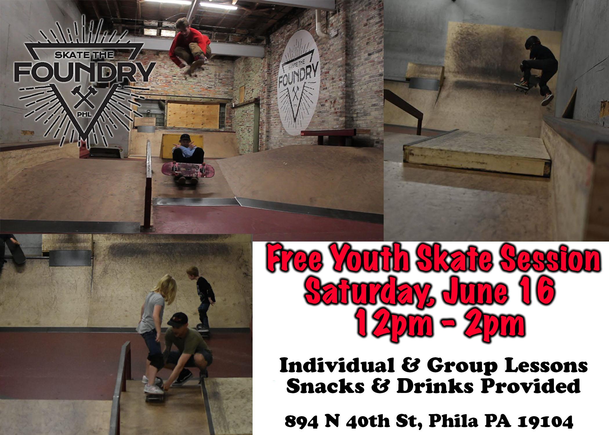 Free Youth Skateboarding 6/16   Skate The Foundry
